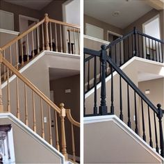 Ideas for painting stairs painting stair railing ideas painted banister ideas attractive painting stair railing ideas . ideas for painting Home, Updating House, Painted Stairs, Painted Banister, Staircase Railings, Staircase Design, Stair Banister, Painted Stair Railings, Stair Railing Makeover