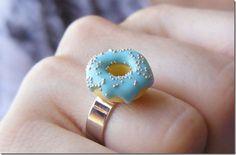Pink Glazed Sprinkled Doughnut Engagement Ring Donut ring Homer