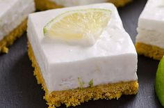 Clean Eating No Bake Key Lime Squares