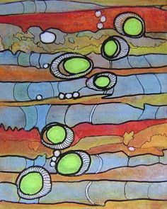 Original Mixed-media Abstract Art Painting/IllustrationPlaythings of the Wind - 8x10