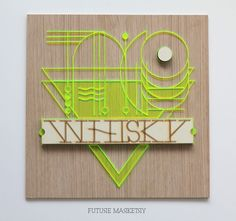 Typography with Laser-Cut Wood and Plexiglass by Malena Valcárcel #typography