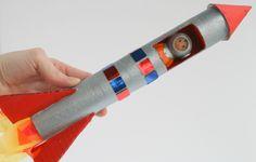 How to Make a Cardboard Tube Rocket #KidsCraft