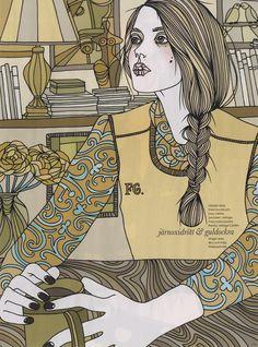 Liselotte Watkins's editorial illustration