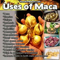 Maca Root is great for regulating hormones in both men and women and increases sperm count. And Maca Root gives you a boost of energy, boosts your libido, and helps prevent uterine disease.