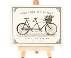 Together We're One…. Like the basket of flowers on the front of the bike.