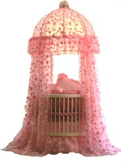 SO SWEET for a little girl. AGAIN with the round crib. so cool!