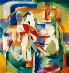 """Franz Marc, """"Elefante, caballo, vaca... el invierno"""""""