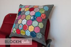 Today I want to share my first ever Hexagon project: a pillow!      The hexies are made using the English Paper Piecing method (EPP). My hex...