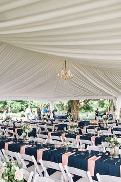 Elegant Navy & Pink Garden Soirée on Borrowed & Blue.  Photo Credit: Sharon Elizabeth Photography