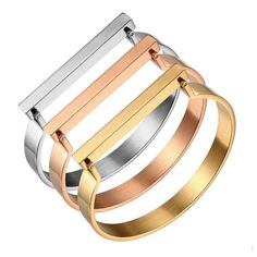 Lux Bar Bangle Bracelet - Stainless Steel