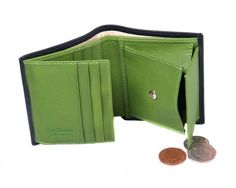 Handmade from fine calf tone colour combination Luxurious cream suede credit card slots with beautifully turned edgesExpandable coin purseSecure tab and stud fasteningSingle note section l Man Purse, Calves, Divider, Coins, Mesh, Window, Note, Pocket, Purses