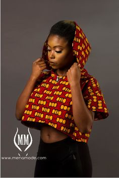37060c564deefc Items similar to Mena Mode Ankara Crop Top Hoodie in African top Fabric on  Etsy