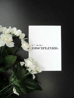 "I Am Disciplined - Motivation Productivity Affirmation Mantra 5x7"" 8x10"" Print"