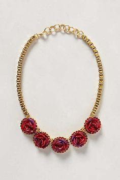 Bermuda Rose Bib Necklace
