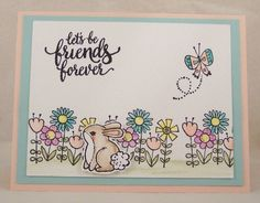 Garden Girl from Stampin' Up! Perfect for Easter or Spring; just change the sentiment. Stampin Up Catalog 2017, Scrapbook Cards, Scrapbooking, Stamping Up, Kids Cards, Cute Cards, Pattern Paper, Stampin Up Cards, Paper Crafts