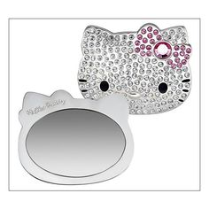 Specchio brillantinato Hello Kitty for Sephora ❤ liked on Polyvore featuring makeup