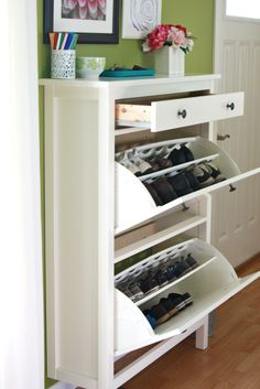 organize this: shoe storage solutions