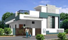Discover ideas about single floor house design Bungalow Haus Design, Duplex House Design, Modern House Design, Front Elevation Designs, House Elevation, Building Elevation, Single Floor House Design, House Front Design, Independent House