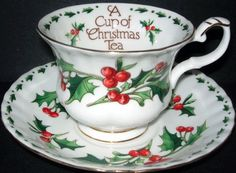 I have this and the teapot to match  a #cup of #christmas #tea