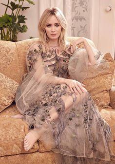 "thequeensofbeauty: """"Emily Blunt Harper's Bazaar UK (March photographed by Pamela Hanson "" "" Pamela Hanson, Alexander Mcqueen Dresses, John Krasinski, Celebs, Celebrities, Daniela Ruah, Beautiful Actresses, Celebrity Style, Glamour"