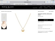 Arrow Necklace, Gold Necklace, Maria Black, Jewelry Collection, Silver, Gold Pendant Necklace, Money
