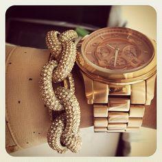 michael kors pave link bracelet