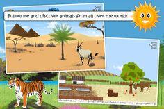 Find them all. Her skal man finde dyrene og lære deres dyrenavne. Gratis app i hvert fald en verden.