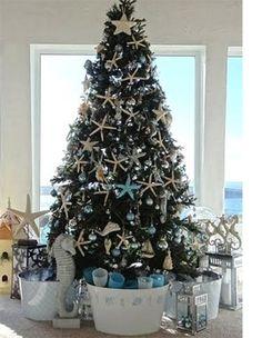 Coastal Living Christmas | Home-Dzine - Celebrate in coastal style - Another beautiful tree!