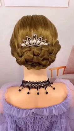 Easy Hairstyles For Thick Hair, Hairdo For Long Hair, Pretty Hairstyles, Kawaii Hairstyles, Girl Hairstyles, Braided Hairstyles, Bollywood Hairstyles, Hair Upstyles, Permanent Hair Dye
