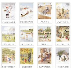 Months of the year- Elsa Beskow