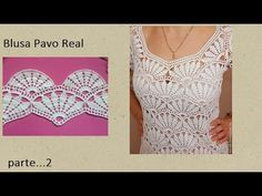 Best 12 CROCHET : An attractive and delicate idea of crochet dress with free graphics – SkillOfKing. Crochet Baby Pants, Crochet Shirt, Crochet Collar, Crochet Clothes, Crochet Diagram, Filet Crochet, Crochet Motif, Crochet Lace, Crochet Patterns