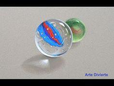 Dibujando vidrio o cristal: cómo dibujar canicas - Arte Divierte. - YouTube