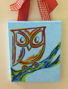 Chi Omega Abstract Owl by tealejane on Etsy. Like the coloring for a tat
