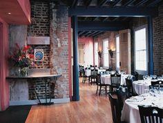 Dining Room Emeril's NOLA- New Orleans Barbecue Shrimp, Scallops N' Grits, Vanilla Bean Creme Brûlée