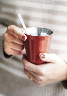 Nespresso Pixie Collection   The simple stainless steel design of the Pixie Collection is both timeless and traditional, which makes these cups perfect for relaxing mornings, busy afternoons, and entertaining on the weekends.