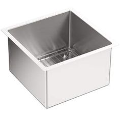 """View the Kohler K-5287 Strive 15"""" Single Basin Undermount 16-Gauge Stainless Steel Kitchen Sink with SilentShield with Basin Rack at Build.com."""