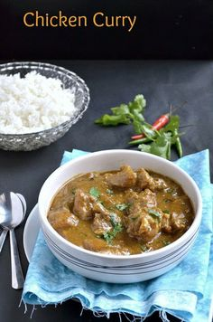 Chicken Curry ~ Nalini'sKitchen Just about to start cooking this now :)