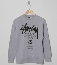 Buy  Stussy World Tour Sweatshirt - Mens Fashion Online at Size?