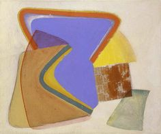 """John Ferren (1905-1970 American ) Abstract Expressionist New York School Untitled, c.1933 oil and sand on burlap 21 1/4"""" x 25 3/4"""", signed"""