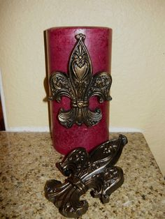 Hey, I found this really awesome Etsy listing at https://www.etsy.com/listing/130334955/set-of-2-fleur-de-lis-candle-accent-pins