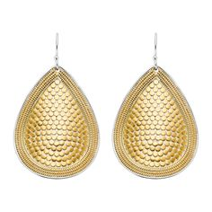 Anna Beck Gold Tear Drop Earrings in 18K Plated Gold and Sterling Silver