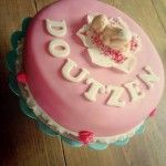 Lovely pink baby cake
