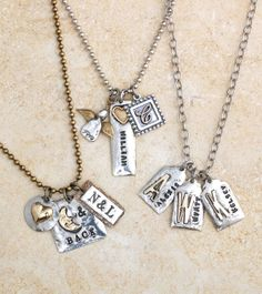 The options are endless on creating your own Restoration Necklace! Mix shapes, sizes, letters, symbols and chain lengths to create an accessory that will be special to you and add pizzazz!