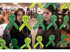 High school group encourages random acts of kindness.  In honor of the almost 1,300 Johnson High School students in 2013 and in response to the recent tradgedy in Connecticut.  Each green ribbon signifies a random act of kindness performed.