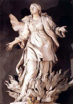 ercole ferreta, la muerte de santa inés, 1660, iglesia de santa inés in agone, roma