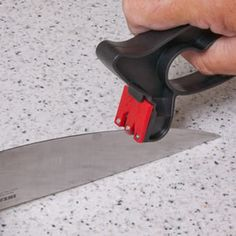 Easy to sharp knife & scissors with super Sharp Knife Sharpener its works on both Straight & Serrated Edges.