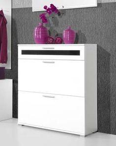 alaska shoe cabinet in white 16 pairs x x cm box opened brand new