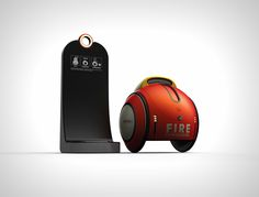 No, this isn't a BB-8 Drone fancy dressed as a Poké Ball. It's actually an advanced fire-fighting robot. We've reached an era of drones
