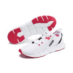 PUMA Weave XT Women's Training Shoes in White/Pink Alert size # Braids with weave colour Weave XT Women's Training Shoes Basket Sport, Agility Workouts, Sneakers Fashion, Sneakers Nike, Puma Cat, Nike Gold, Black Puma, Braids With Weave, Womens Training Shoes