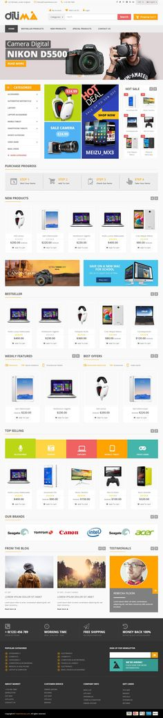 Dilima is Premium full Responsive #OpenCart eCommerce #Theme. Retina Ready. #Bootstrap 3 Framework. Mega Menu. Ajax Add To Cart. Test free demo at: http://www.responsivemiracle.com/dilima-premium-responsive-mega-store-opencart-theme/